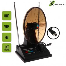 Antena Digital Interna para TV VHF/UHF/FM Indoor Color XC-ANT-7