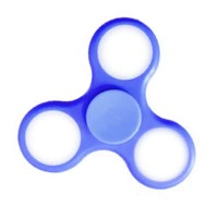 Hand Spinner com LED - Azul