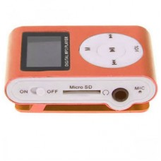 Mp3 Player Mini com Slot para Cartão com Display - Laranja