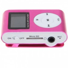 Mp3 Player Mini com Slot para Cartão com Display - Pink