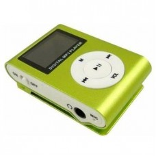 Mp3 Player Mini com Slot para Cartão com Display - Verde