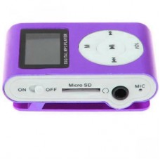 Mp3 Player Mini com Slot para Cartão com Display - Roxo