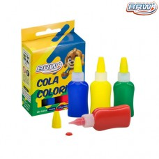 Cola Colorida 25g Cx c/ 4 Cores BRW CO4025