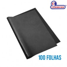 Papel Carbono Preto A4 297x210mm Cx c/ 100 Folhas 8142 Carbrink