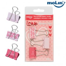 Clips Binder Love 32mm Blister c/ 3 Unidades Molin 23050