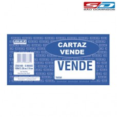 Cartaz Vende 308 x 154mm Pct com 50Un 6885 SD