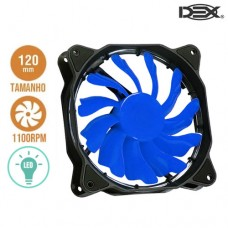 Cooler Fan para PC 12x12cm com LED DX-12F Dex - Azul