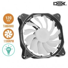 Cooler Fan para PC 12x12cm com LED DX-12F Dex - Branco