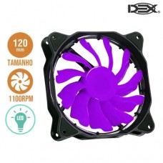 Cooler Fan para PC 12x12cm com LED DX-12F Dex - Roxo