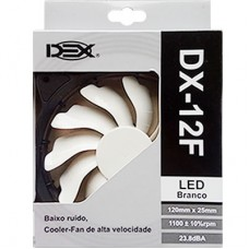 Cooler Fan para PC DX-12F Dex 12x12 cm com LED - Branco