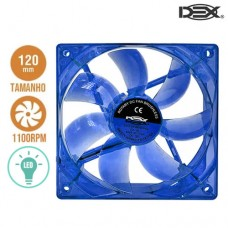 Cooler Fan para PC 12x12cm com LED DX-12L Dex - Azul