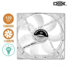 Cooler Fan para PC 12x12cm com LED DX-12L Dex - Branco