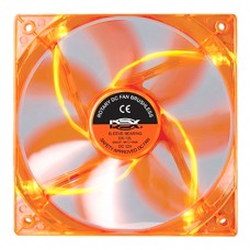 Cooler Fan para PC DX-12L Dex 12x12 cm com LED - Laranja