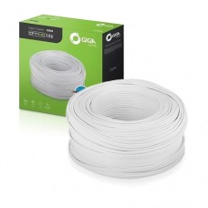 Caixa de Cabo CFTV 100Mts 4mm Coaxial Flexível HD Lite Dupla Blindagem Branco Giga Security GS0226
