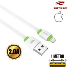 Cabo USB Lightning 2A 1m CB-110WH C3 Tech Branco