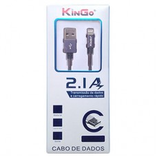 Cabo USB para iPhone 5/6/7 Metalizado 2.1A Kingo