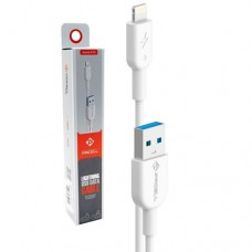 Cabo USB Lightning 2m 2A Solid 997 PMCELL CB-11 Branco