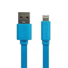 Cabo USB Lightning Flat 1A 1m PMCELL CB-12 Azul