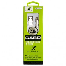 Cabo USB Lightning 8 Pinos 1m 2A X-Cell XC-CD-25