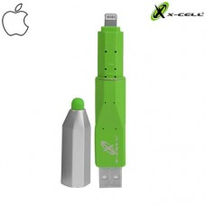 Adaptador USB Lightning + Caneta Touch p/ Celular/Tablet X-Cell XC-PEN-5 - Verde