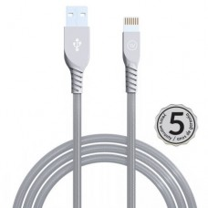Cabo USB Lightning MFI Strong 2.4A 1,2mts iWill Cinza