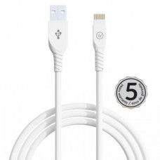 Cabo USB Lightning MFI Strong 2.4A 2mts iWill Branco