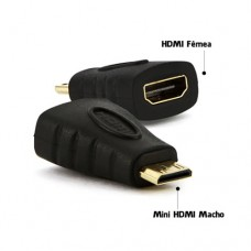 Adaptador HDMI Fêmea x Mini HDMI Macho Exbom