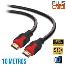 Cabo HDMI x HDMI v2.0 Mid Ultra HD 4K 10 Mts PC-HDMI100M Plus Cable
