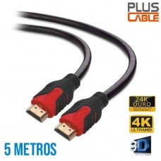 Cabo HDMI x HDMI v2.0 Mid Ultra HD 4K 5 Mts PC-HDMI50M Plus Cable