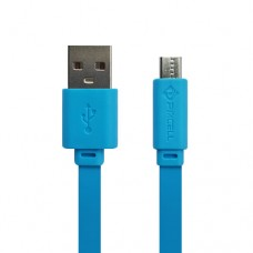 Cabo USB Micro USB/V8 Flat 1A 1m PMCELL CB-12 Azul