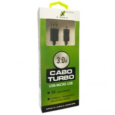Cabo USB V8 Turbo 2m 3.0A X-Cell XC-CD-14