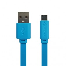 Cabo USB Type C Flat 1A 1m PMCELL CB-12 Azul