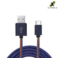 Cabo USB Type C Turbo Jeans 3.0A X-Cell XC-CD-33