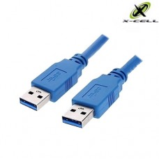 Cabo USB 3.0 Macho x Macho 2Mts X-Cell XC-USB-MM-3.0