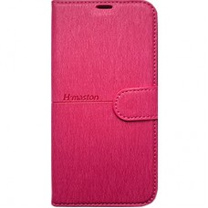 Capa Book Cover H Maston para Galaxy A8 2018 Plus - Pink