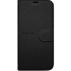 Capa Book Cover H Maston para Galaxy A8 2018 Plus - Preta