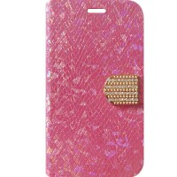 Capa Book Cover para Moto G - Strass Furtacor Rosa