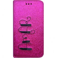 Book Cover para iPhone 6 - Gliter Amar Pink