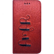 Book Cover para iPhone 6 - Gliter Amar Vermelha