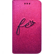 Book Cover para iPhone 6 - Gliter Fé Pink