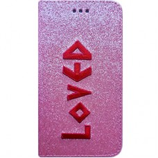 Book Cover para iPhone 6 - Gliter Loved Rosa