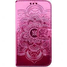 Book Cover para iPhone 6 - Metalizado Mandala Pink