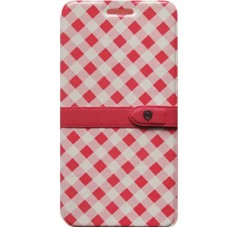 Book Cover para iPhone 6 Mosaico Pink Branca