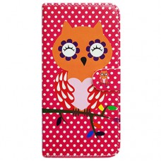 Capa Book Cover para Moto One Vision P40/One Action/P40 Power - Coruja Poa Pink