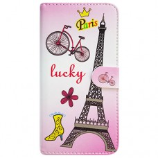 Capa Book Cover para Moto One Vision P40/One Action/P40 Power - Eiffel Lucky