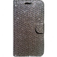 Book Cover para iPhone 6 - Gliter Grafite Preta
