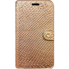 Book Cover para iPhone 7 e 8 - Craquelê Dourada