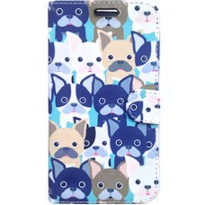 Capa Book Cover para Moto Z2 Play - Dogs Blue