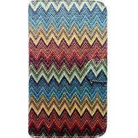 Capa Book Cover para Moto E4 - Etnica Colorida Gliter
