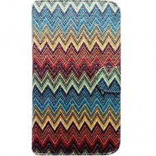 Capa Book Cover para Galaxy M10 - Etnica Colorida Gliter